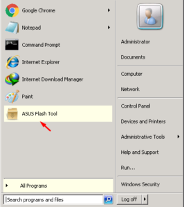 Cara Flashing Dengan Asus Flash Tool