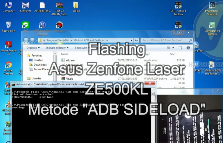 Cara Flashing Zenfone Laser Z00RD Via ADB