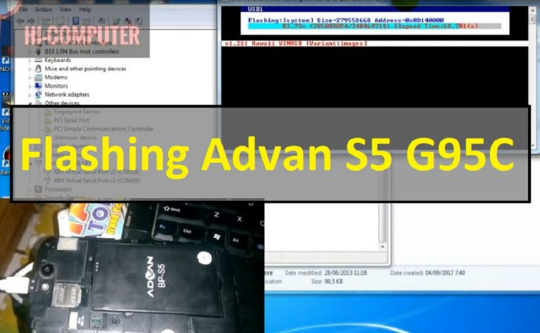 Cara Flashing Advan S5 Blank Putih