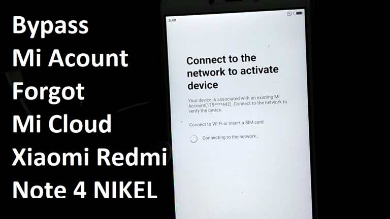 Easy Bypass Mi Cloud Redmi Note 4 Nikel
