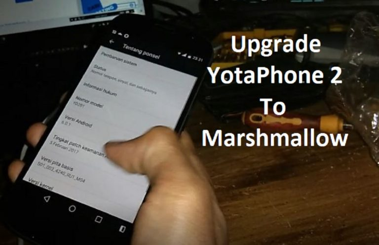 YotaPhone 2 YD201 YD206 Update Marshmallow Firmware